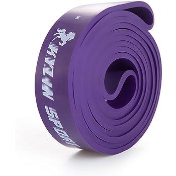 KYLIN SPORT Bande Elastique de Résistance Bande Latex de Yoga Bande d'entraînement pour Musculation Crossfit Récupération Pilates Kinésithérapie Culturisme pour Homme Femme