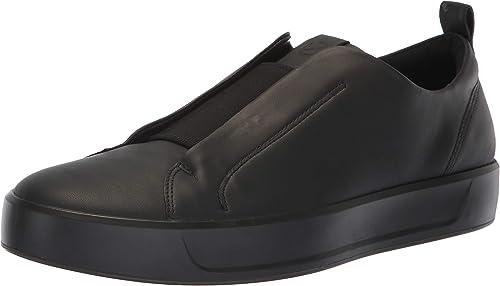 ECCO Men's Soft 8 Slip On baskets, noir Stretch, 47 M EU (13-13.5 US)