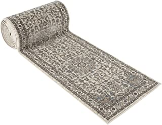 25' Stair Runner Rugs - Luxury Heriz Collection Stair Carpet Runner Nearly 1 Million Points Per Sq.Meter (Ivory)