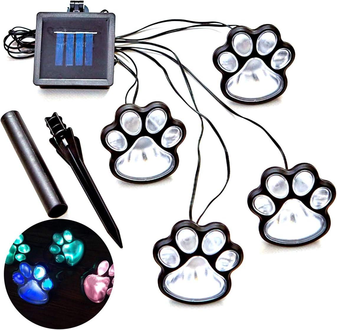 LED Paw Decor Solar Light 4 Dog Super-cheap Soldering Print Ligh Cat Animal