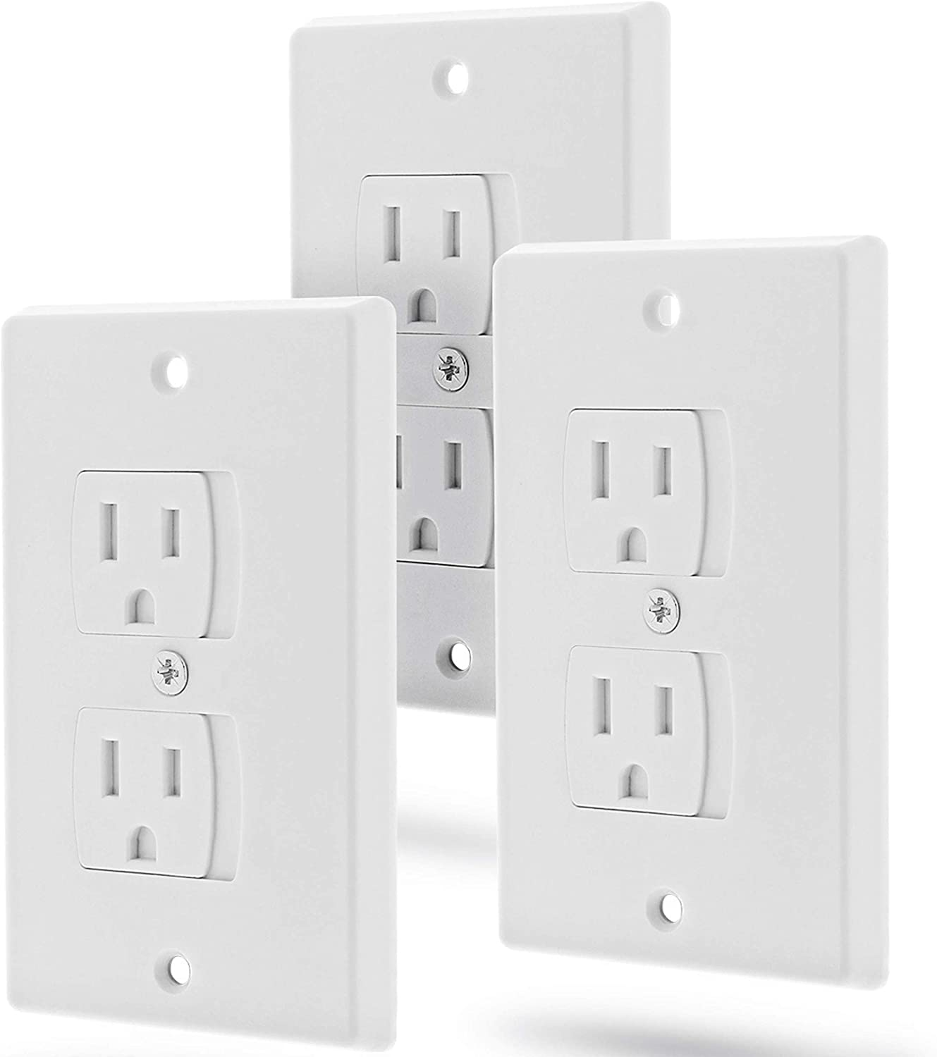 Self Closing Outlet Covers by Standard 6 Pack | Baby Proof Outlet Covers Baby Outlet Cover Outlet Covers Self-Closing Baby Proofing Electrical Outlet Cover Baby Proofing outlet Covers Baby Proofing