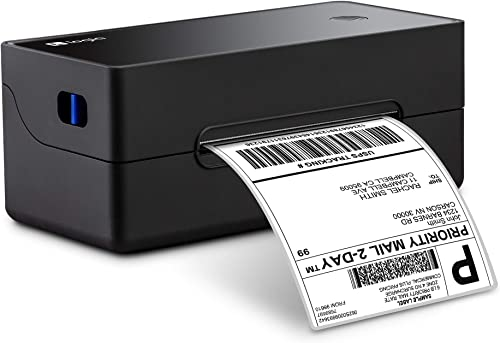 high quality Logia Thermal 300 DPI Label Printer outlet online sale   High-Speed 4x6 & Barcode Printer for Shipping & Postage Labels   Commercial Grade Compatible w/Amazon, sale eBay, Etsy, Stamps.com etc. - Fanfold and Roll Label Holder online sale