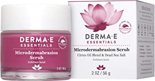 DERMA E Microdermabrasion Scrub with Dead Sea Salt- essential Microderm quality facial scrub works as an exfoliator to reduce scars & wrinkles for flawless, hydrated skin