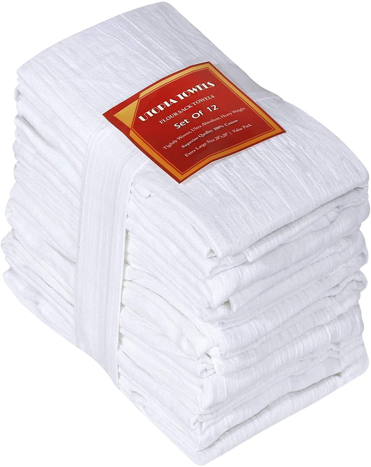 Utopia Over item handling ☆ Ranking TOP10 Kitchen Flour Sack Dish 12 Towels Cotton Pack To