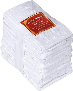 Utopia Kitchen Flour Sack Dish Towels, 12 Pack Cotton Kitchen Towels - 28 x 28 Inches