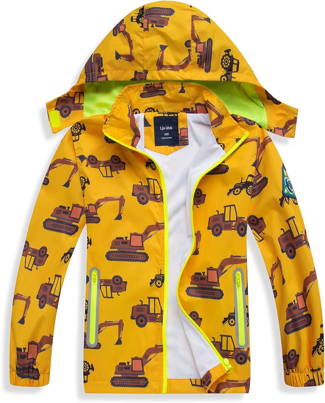 SHIBASHAN Baby Boys Rain Jacket Lightweight Outwear, Kids Waterproof Raincoat for Girls Windbreaker Poncho