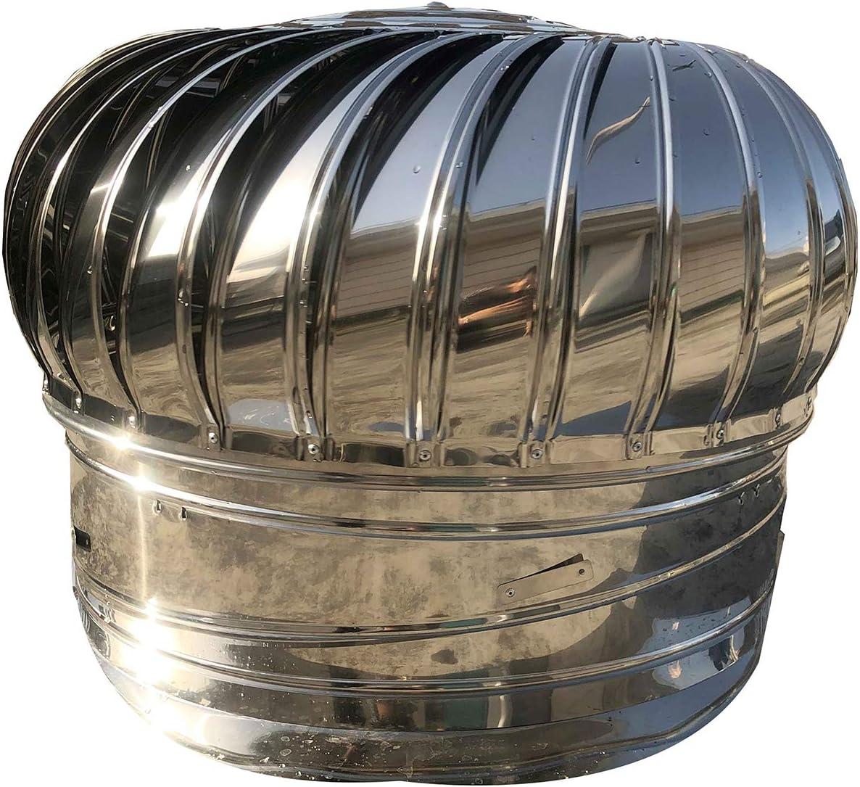 QWEASDF Acceso a la Chimenea Acero Inoxidable Acceso Resistente a la Bola giratoria Bola Chimenea Atención de ventilación Horno rotativo Rotación de la Lluvia Cubierta de Chimenea Ø110-400mm,110mm