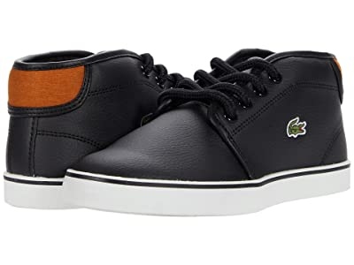 Lacoste Kids Ampthill 0120 1 CUC (Little Kid) (Black/Brown) Kid