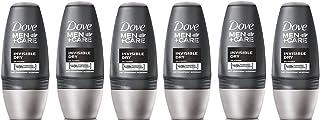 Dove Men + Care Desodorante Antitranspirante - Invisible Seco Roll-On (50ml) (Paquete de 6)