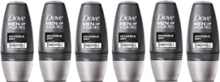 Dove Men + Care Antiperspirant Deodorant - Invisible Dry Roll-On (50ml) - Pack of 6