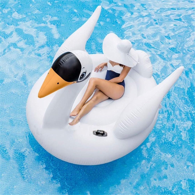 servicio de primera clase MISHUAI Fila Flotante Inflable Niños y Adultos Summer Large Large Large Pool Floats Swan Ride-On Fun (blancoo) Piscina de Aire y inflables (Color   blancoo, tamaño   Free Talla)  últimos estilos