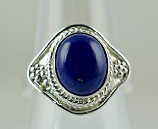 Anello con lapislazzuli, anello in argento con lapislazzuli, argento sterling 925, anello con gemma, anello in argento, an...