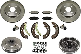 100% New Brake Rotors Pads Drums Shoes Springs for Nissan Versa 12-15 Note 15-17