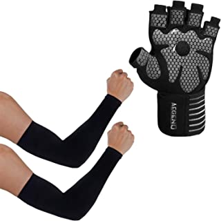 aegend Arm Sleeves Black 2 Paris Workout Gym Gloves
