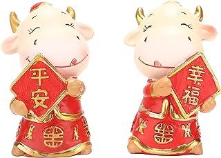 Gedourain Décoration de Voiture, Mini décoration de Maison Mignonne d'ornement de Vache pour la Voiture Bureau Bureau
