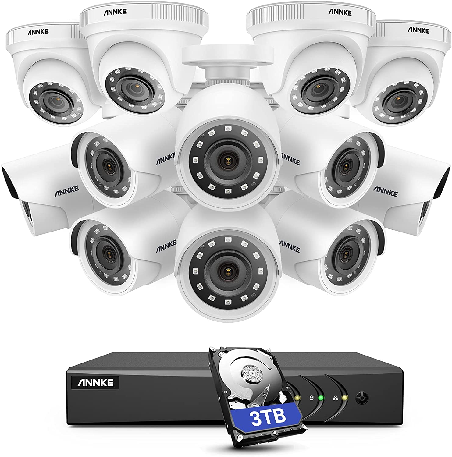 ANNKE 5MP Lite Beauty products 16 Channel Security H.265+ Chan Camera New Orleans Mall System