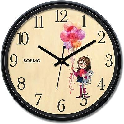Amazon Brand - Solimo 12-inch Wall Clock - Cheer (Silent Movement)