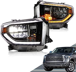 VLAND LED Headlights for Toyota Tundra 2014-2019 with Sequential, Chrome, YAA-TDR-2045H