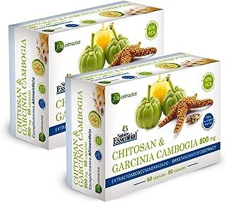 Chitosán + Garcinia 800 mg 60 cápsulas con vitaminas B-1. B-2. B-6 y B-12. (Pack 2 unid.)