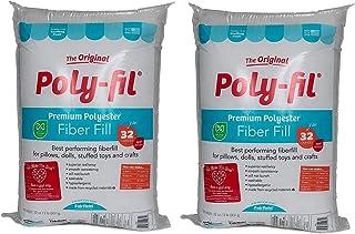 Fairfield Poly Fil Premium Fiber Fill, 32-Ounce (#.2 Pack - 32 Ounce, Original Version)