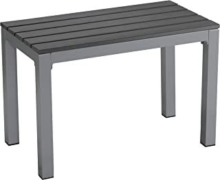 Cortesi Home CH-DB700114 Jaxon Aluminum Outdoor Bench in Poly Resin, 26