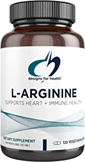 Designs for Health L-Arginine 750mg - Vegetarian Amino Acid Supplement + Nitric Oxide Precursor - Promotes Heart + Immune ...