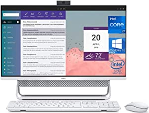 "Dell Inspiron 7700 All in One, 27"" FHD Touchscreen, Intel 11th Gen i7-1165G7, 32GB RAM, 1TB SSD, Webcam, Nvidia Geforce MX330 2GB Graphics, HDMI, SD-Card, USB Type-C - Windows 10 Pro (Renewed)"