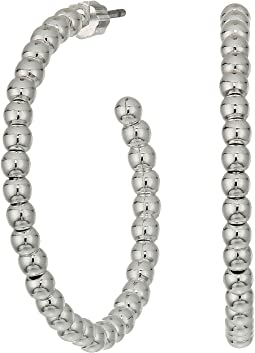 LAUREN Ralph Lauren Metal Bead Hoop Earrings
