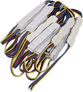 sourcing map 2pcs LED Chip de 10mm con conector de extensi/ón en forma de T encaje de 4 clavija 5050
