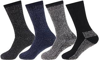 Juego de calcetines térmicos para hombre (lana, tallas 39-45, 4 pares)