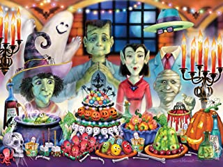 Vermont Christmas Company Monster Banquet Halloween Jigsaw Puzzle