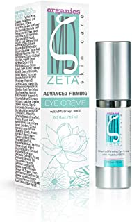 Advanced Eye Cream by ZetaMD Organics - Anti Aging Firming Restorative Formula with Natural Vegan Matrixyl 3000, Retinol and Tripeptide-5 (0.5 oz)