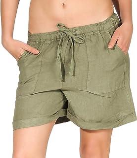 436888fb17 Malito Femmes Lin Shorts Pantalon Bermuda Basic Loisirs 1965