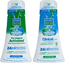 SmartMouth Original Activated and Clinical DDS (Gum & Plaque) 24 Hour Fresh Breath Rinse, 2 Bottles, 2.51 Pound