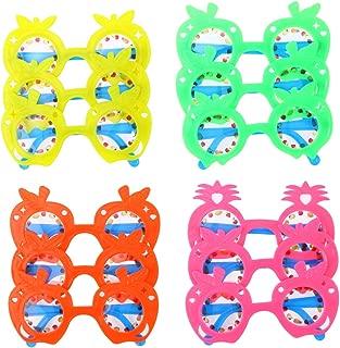 LUOEM Kids Pineapple Eyeglasses Party Sunglasses Favors Hawaii Fruit Eye Glasses for Hawaii Beach Luau Party Decoration ,Pack of 12 (Random Color)