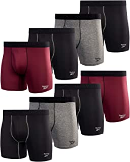 Men's Underwear - Performance Boxer Briefs with Fly Pouch (8 Pack)