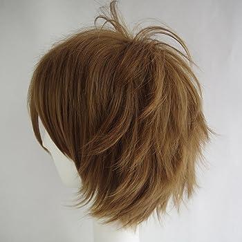 Alacos Short Fashion Spiky Layered Anime Cosplay Wig HalloweenChristmasCarnivalDressUpPretendPlayPartyWigGif...