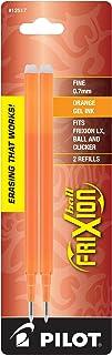 Pilot FriXion Ball Gel Ink Refills, Fine Point, 0.7mm, Orange Ink, 2 Pack