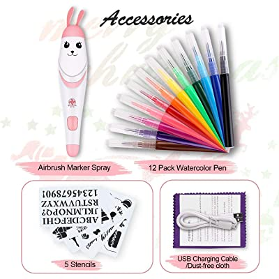 Painting Crafts Airbrush Set for Kids, Electric...