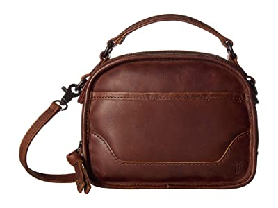 Frye Melissa Top-Handle Crossbody (Dark Brown) Handbags