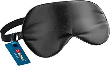 Natural Silk Sleep Mask, Super-Smooth & Soft Eye Mask with Adjustable Strap, Blindfold, Perfect Blocks Light, Pressure Fre...