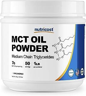 Nutricost MCT オイル パウダー 1LB(16オンス)、ケト、ケトーシス、ケトンダイエットに最適、ゼロネット炭水化物、アメリカ製、非GMO、グルテンフリー(中鎖トリグリセリド)