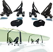 Car Rack & Carriers Universal Saddles Kayak Carrier Canoe Boat. Surf Ski Roof Top Mounted on Car SUV Crossbar
