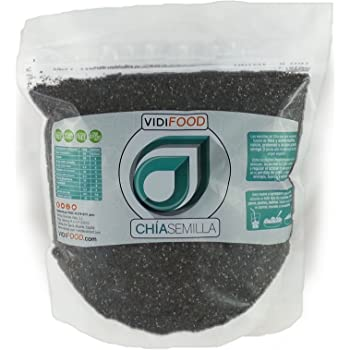 Semillas de Chia gr 1000: Amazon.es: Salud y cuidado personal