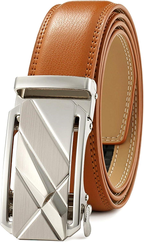 Men's Belt,Ratchet Dress Belt with Automatic Buckle Brown/Black-Trim to Fit-35mm wide