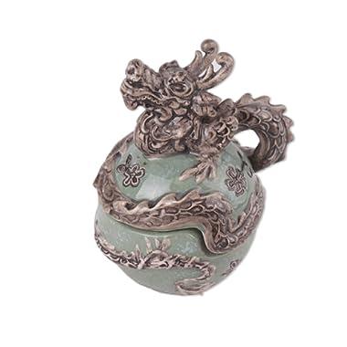 Blue Sky Ceramic Dragon Salt & Pepper Without Box, 4 x 3.5 x 5