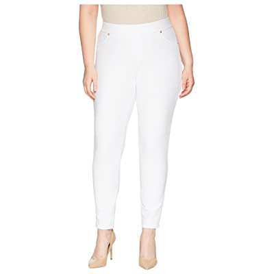 MICHAEL Michael Kors Plus Size Pull-On Leggings (White) Women