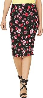 FRANCLO® Women's Below Knee Length Floral Print Skirt