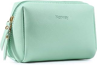 Bolsa de maquillaje pequeña para bolso de viaje de maquillaje, mini bolsa de cosméticos para mujeres y niñas verde verde menta S