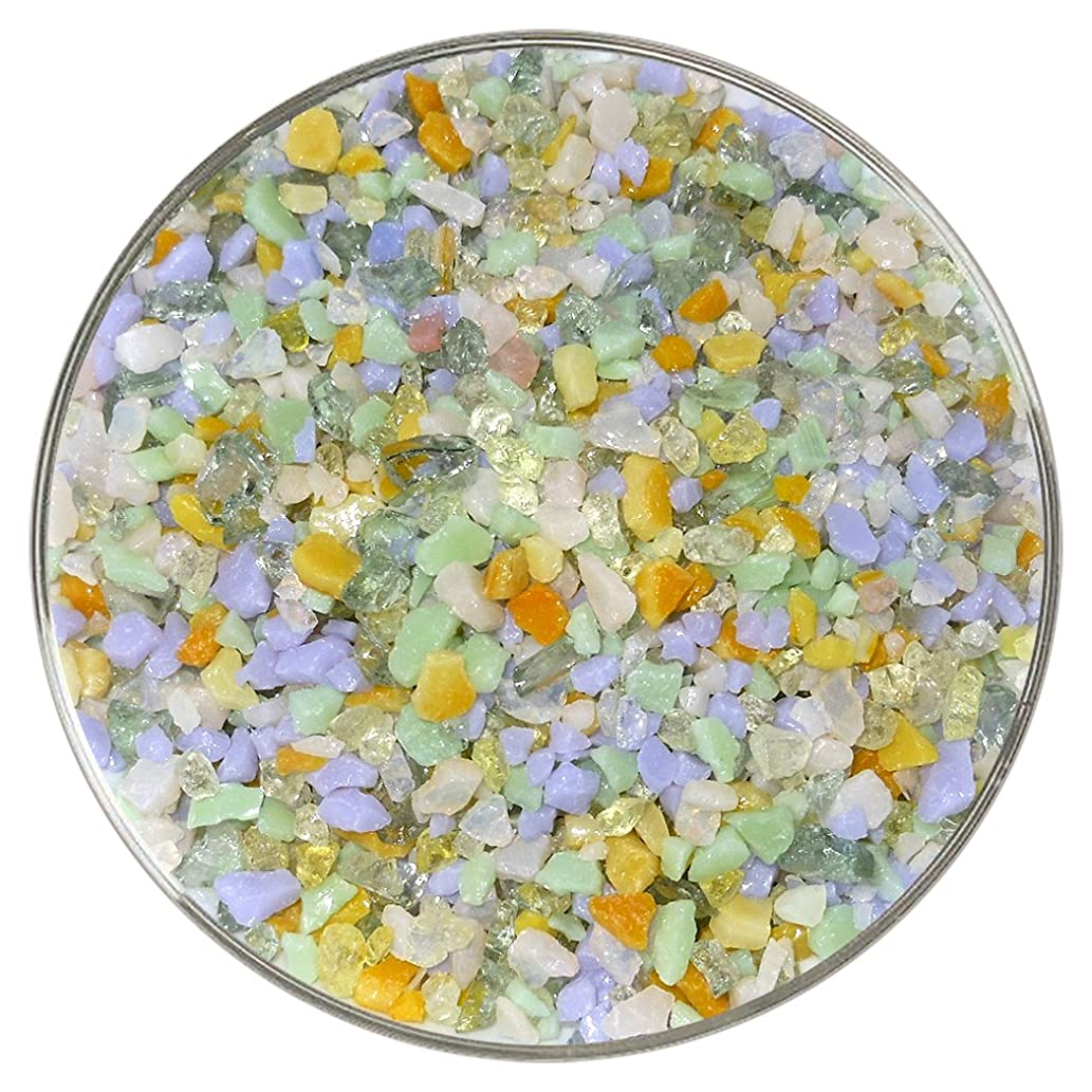 May Flowers Designer Fusible Glass Coarse Frit Mix - 4oz - 90COE - Made From Bullseye Glass